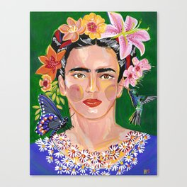 Queen Mother of Flowers - Frida collection - Canvas Print