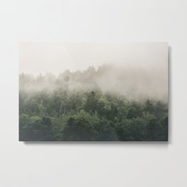 Forest Fog Photography | Woods | Misty | Mist | Forest Dew | Kaszuby Canada | Nature Photography Metal Print