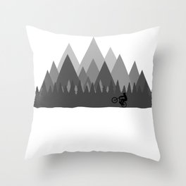 MTB Trailz Throw Pillow