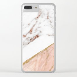 Marble rose gold blended Clear iPhone Case