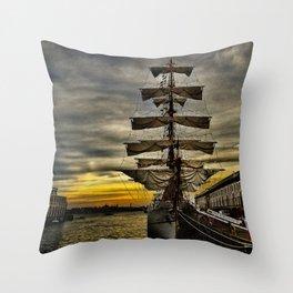 Tall Ship BAE Guayas Throw Pillow