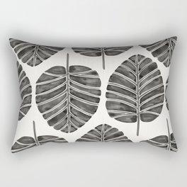 Elephant Ear Alocasia – Black Palette Rectangular Pillow