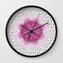 Pinky flower Wall Clock