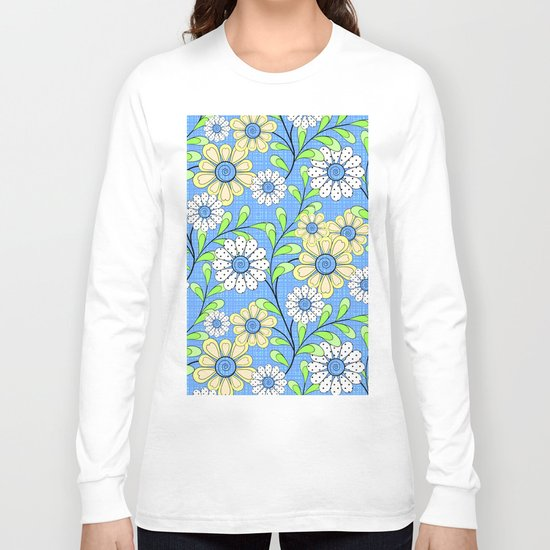 Bright floral pattern. Long Sleeve T-shirt