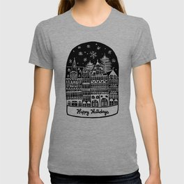 Linocut Holidays T-shirt