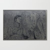 captain swan Canvas Prints featuring The captain and the swan by Sui Lestrange