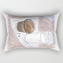 Cupcake and Milk Rectangular Pillow