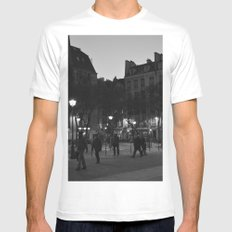 Paris MEDIUM Mens Fitted Tee White