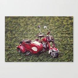 Metal sidecar Canvas Print
