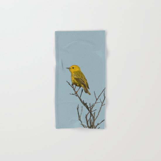 Yellow Warbler Hand & Bath Towel