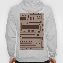 brown abstract Hoody