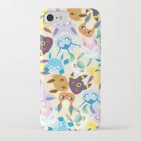 eevee iPhone & iPod Cases featuring Eevee Evolutions by RAVEFIRELL