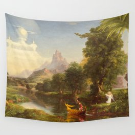 The Voyage of Life Youth Painting by Thomas Cole Wall Tapestry