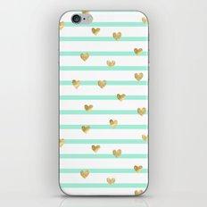 Line Heart iPhone Skin