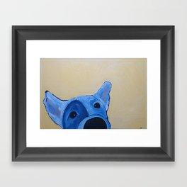 Wet Nose Framed Art Print