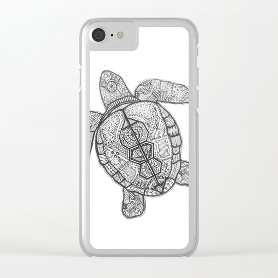 Sharpie Turtle Clear iPhone Case