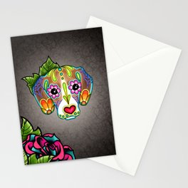 Beagle - Day of the Dead Sugar Skull Dog Stationery Cards