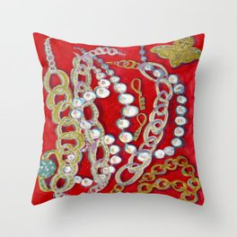 Pearls, Chains, & Cupid Throw Pillow