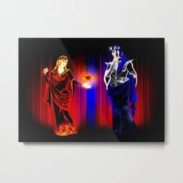 Mairon and Melkor (Lynch Aesthetics) Metal Print