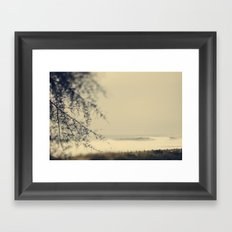 beach wave Framed Art Print