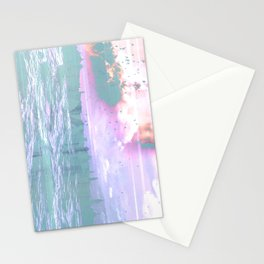 NL 6 9 Abstract Ocean Stationery Cards