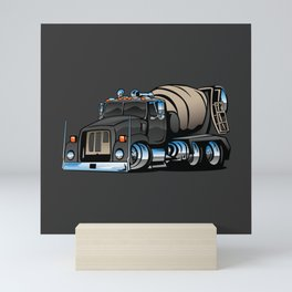 Cement Mixer Truck Mini Art Print