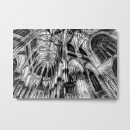 The Haunted Cathedral Metal Print
