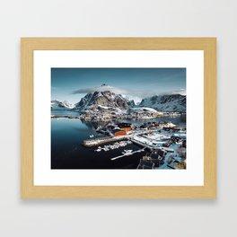 reine at landscape Framed Art Print