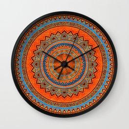 Hippie mandala 77 Wall Clock