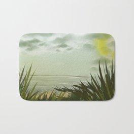 Digital Painting, Pastel Landscape Bath Mat