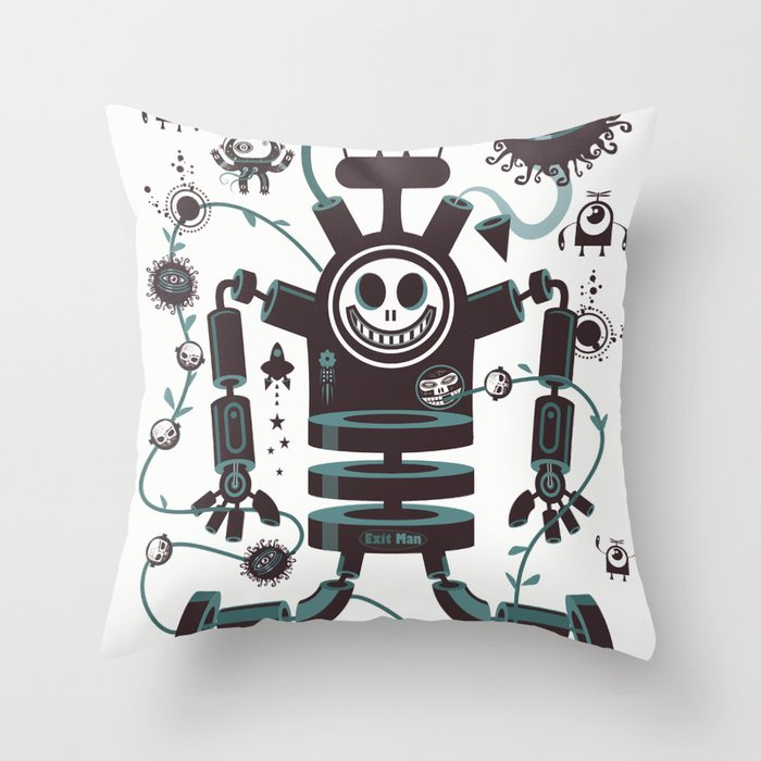 The Magic Garland Throw Pillow