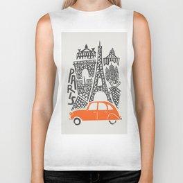 Paris Cityscape Biker Tank