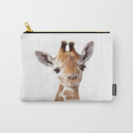 Baby Giraffe, Baby Animal Art Prints By Synplus Carry-All Pouch