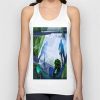 hockey Tank Tops featuring Hockey by Robin Curtiss