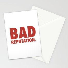 BAD REPUTATION. (Red) Stationery Cards