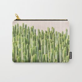 Palm Springs, California, pink, cactus, desert, desert photography Carry-All Pouch