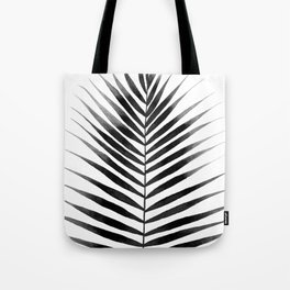 Palm Leaf Watercolor | Black and White Tote Bag