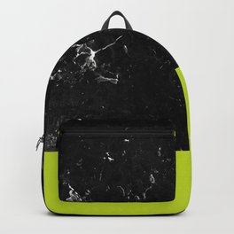 Lime Punch Meets Black Marble #1 #decor #art #society6 Backpack