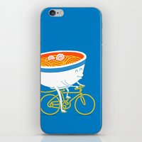 ramen iPhone & iPod Skins featuring GoGo Ramen by mogumogu