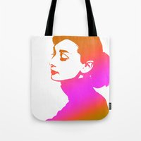 audrey Tote Bags featuring Audrey by Bright Enough💡
