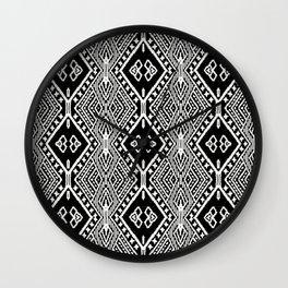 Tribal Diamond Textile Wall Clock