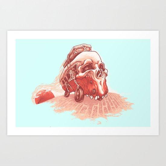 walking to dead! Art Print