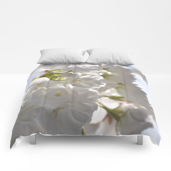WHITE SPRING :) Comforters