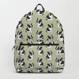 Say hello to the cute double hooded pied French Bulldog Backpack