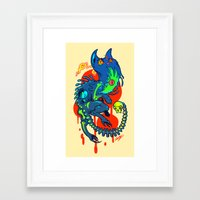 wtnv Framed Art Prints featuring Khoshekh by Guts & Glory