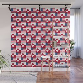 Mix of flag : Usa and greenland Wall Mural