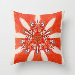 Flower Trinity Throw Pillow