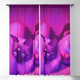 PsyCat 2 (remake of 2015 drawing) Blackout Curtain