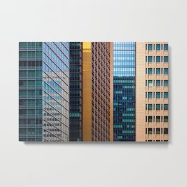Among the Chaos - Abstract Architecture of Tokyo Metal Print