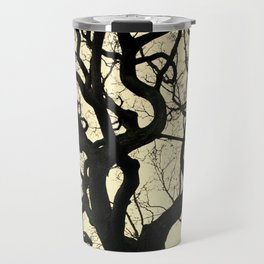 Tree Silhouette - Yellow Travel Mug